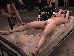 Sindee Jennings, Mark, Bella  A room full of people to punish Sindee