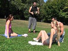 Renato, Cayenne Klein, James, Mira Shine  Sexy Workout