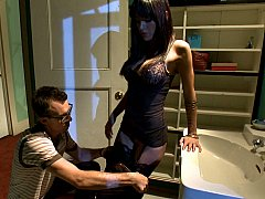 Wolf Hudson, Dietrich Cyrus, Gia DiMarco  Submissive husband watching his wife getting fucked