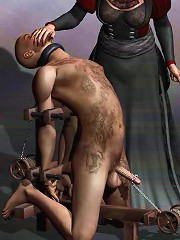 Anime miss massages 3D Orc and plugged