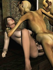 3D Priestess gets penetrated by poor 3D Mutant