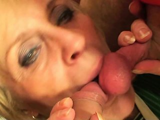 Very Old Blonde Granny Swallows Two Cocks At Once Drtuber