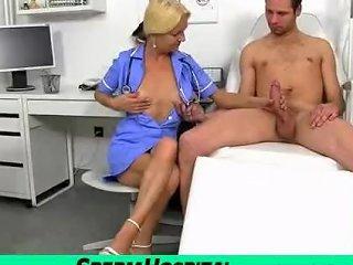Dirty Granny Vera Enjoys A Big Dick Handjob