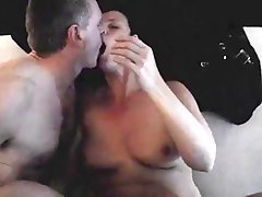 Husband Kisses His Wife While Boyfriend Is Cumming - P
