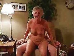 Hot Granny Riding Cock. Amateur