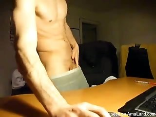 Fit Twink Squirts Cum On The Table