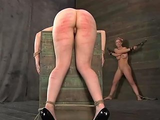 Chained Darling Gets Excruciating Caning On Her Slim Body
