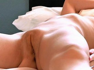Climb Into Bed With The Cute Blonde That Spreads Wide