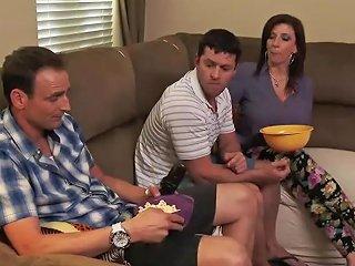 Shaved Stepmother Sara Jay Seduces Hard Tender Stepson