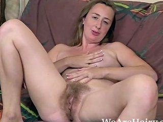 Lucia Siberia Strips Naked On Her Brown Couch Free Porn F0