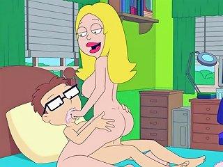 American Dad Francine Fucks Steve In His Bedroom