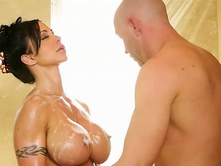 Massage Turns Wild For Busty Raven