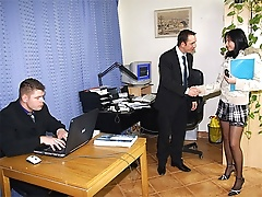 free cum video Cumshot on secretaries...