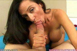 Huge Titty MILF Sucks On A Motherfucking Cock