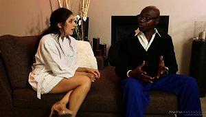 Interracial Couple Shares A Bath, Shower, Massage And Fuck