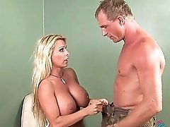 Giant Breasted Blonde Milfie Whore Seeks For A Chance To Jump On Dick