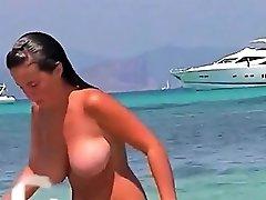 Huge Tits Mature Teens Bikini Beach Topless Spy