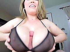 Tittyfuck Under Bra Massive Tits Cumshot Between Tits