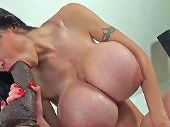 Huge Fake Tits And Big Dildo