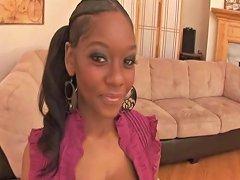 Gorgeous Ebony Girl Huge Natural Boobs