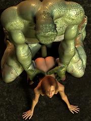 Lizard king fucks a girl