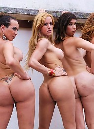Big tit blonde tranny pounds ass