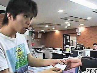 Subtitled Cmnf Enf Japanese Office Rock Paper Scissors Drtuber