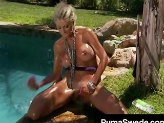 Naughty Euro Queen Puma Swede Squats On Her Dildo Outside Porn Videos