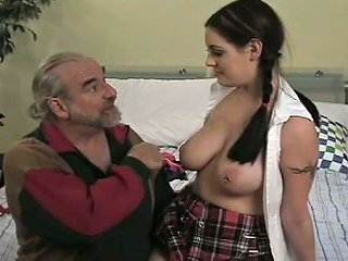 Sexy College Gal With Juicy Boobies Gets Spanked Hard