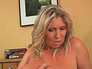 Soccer Mom With Big Boobs Masturbates And Gets Fucked