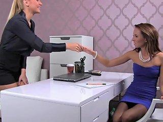 Femaleagent Blonde Sexy Boss Teaches Agent The Art Of Seduction