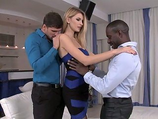 Black And White Cocks Invade Anus And Pussy Of Ukrainian Bitch Lana Roberts
