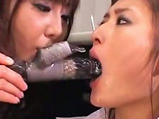 Shemale Business Woman Gets Blowjob While Tied Up