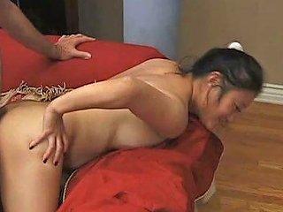 Just Perfect Buxom Asian Slut Yoko Rides Disgusting White Old Man