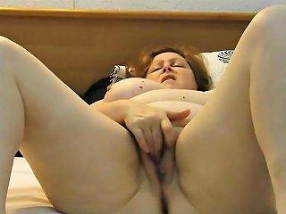 Homemade Chubby Wife Masturbates Untill Orgasm