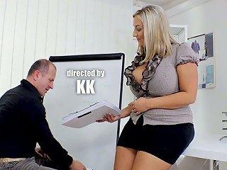 Fucking Hot Chubby Blonde Krystal Swift Goes Wild On Boss's Dick