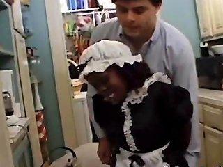 Black Midget Maid Sucks The Landowners Dick