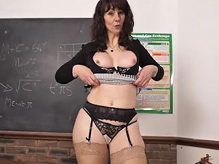 Teacher Encourages You To Jerk Off By Stripping