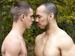 Hardcore gay anal sex outdoors