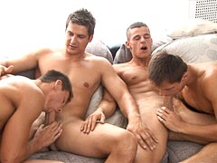 Twins fucking in the gym, hot groupsex gay cumshot