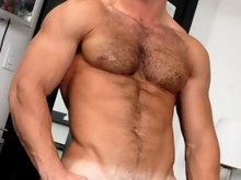 We know you love this stud, so it's with pleasure we bring you his solo action. Francois Sagat sits in front of huge windows and plays with his o
