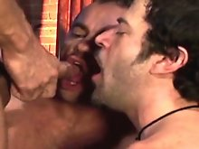 Armed with his tool handyman Michael Solider makes a pass at French superstar Taurus. Then, from a shadowed corner of the room comes coverman and inte