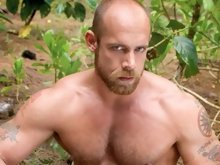 This sexy oral scene stars two of our biggest names and hairiest men -  Steve Cruz and Jake Deckard. Steve and Jake are on a rocky cliff overlooking t