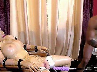 Clinic Babe Gets Machine Plowed Hard