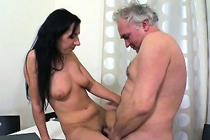 Lustful Old Lad Explores Young Juicy Body Of A Pretty Gal
