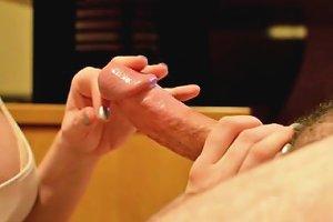Sensual Massage With Cum On Tits From Sexdatemilf Com