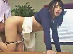 Dirty Little Brunette From Japan Getting Dicked Doggy Style