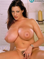 Brunette lassie presented her extra sizeable all natural titties.