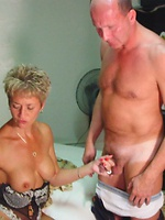 Real swinger wives fuck, suck & swallow on camera in front of their husbands!