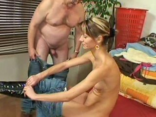 Titless Skinny Chick Zlata B Undresses To Have Sex With Ugly Fat Gaffer